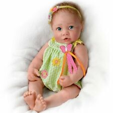 Touch-Activated Lifelike Baby Doll: Butterfly Kisses by Ashton Drake