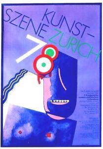 Original vintage poster EXPO ART SCENE ZURICH WOMAN 1978
