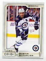 2018-19 O-Pee-Chee #244 DUSTIN BYFUGLIEN Winnipeg Jets 2019  OPC HOCKEY CARD