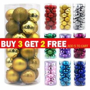 1box 3cm Xmas Tree Balls Baubles Ornament for Birthday Party Wedding Decoration