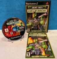 Army Men: Green Rogue (Sony PlayStation 2, 2001) with Manual - Tested & Working