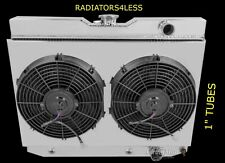 "CHAMPION 2 ROW ALUMINUM RADIATOR SHROUD & 12"" FANS 1959-1963 IMPALA MANY GM CARS"
