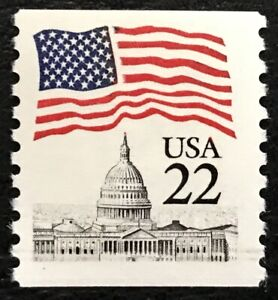 1985 Scott #2115, 22¢, FLAG OVER CAPITOL DOME - Coil Single - Mint NH -