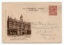 More details for 1930 advertising letter card the frederick hotel to usa with westminster abbey