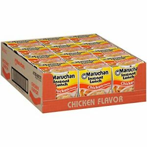 Maruchan Instant Lunch Chicken Flavor, 2.25 Ounce [Pack of 12]