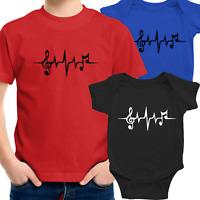 Toddler Kids Boy Tee T-Shirt Infant Baby Bodysuit shower Gift Music Note beat