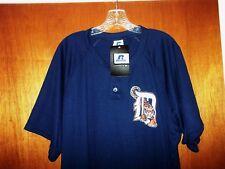 NEW Detroit Tigers MLB Shirt Pro Baseball Jersey RUSSELL Jacket Team Mens L NWT