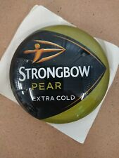 #R414 STRONGBOW PEAR ROUND BAR BADGE, pub,font,tbar,mancave