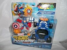 Marvel Super Hero Mashers Micro Captain America Racer & Accessories-Dated 2015