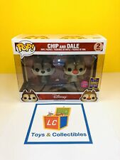 Funko POP - Disney - Chip and Dale - 2017 SDCC - Flocked FREE Priority Shipping