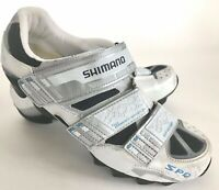 Shimano SPD Offset Mountain Bike Cycling Clip Shoes Women's 8.5 Pearly White