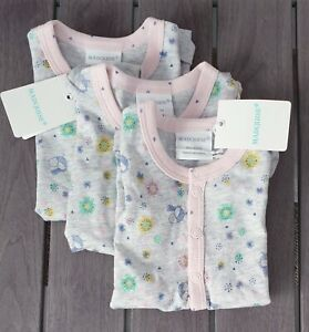 BNWT MARQUISE Baby Girl Romper Size 0000 NEWBORN GROWSUIT Sleepsuit R$36.95 GIFT