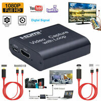 HDMI Video Capture Card Screen Record USB 2.0 1080P Game Capture Streamer Device