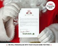 Personalised Letter from Santa Claus Father Christmas & Nice List Certificate