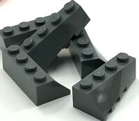 Lego 5 New Dark Bluish Gray Wedge 4 x 2 Sloped Right Pieces