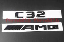 "Gloss Black Letters ""C 32 ///AMG"" Trunk Badge Emblem Sticker for Benz C32 AMG"