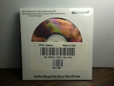 Microsoft Office Professional 2007 Disk 2 MS office outlook w/ Business Contact