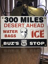 New ListingVintage Buz'S Route 66 Gasoline Porcelain Sign Gas Station Pump Plate Motor Oil