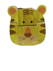 Anbaby Baby Teeth Box - Save Babys Teeth - Wooden - Tiger Shape