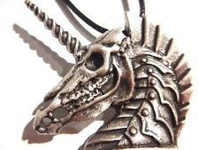 SKELETAL WAR HORSE PENDANT apocalypse unicorn gothic punk steampunk necklace 1V
