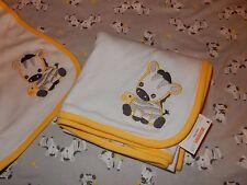 NWT GYMBOREE Little ZEBRA Jersey Knit Reversible Baby Receiving Swaddle Blanket