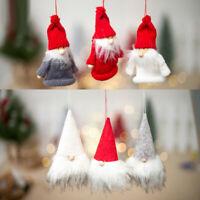 AS_ Gnome Handmade Swedish Tomte Santa Plush Festival Party Xmas Hanging Decorat