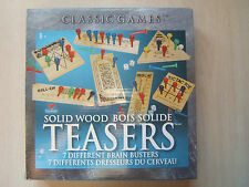 Solid Wood Brain Teasers 7 Different Brain Busters Classic Games by Cardinal