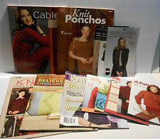 Lot of 10 Knitting Books & Pamphlets plus 3 Flyers ~ Patterns, Learn to Knit