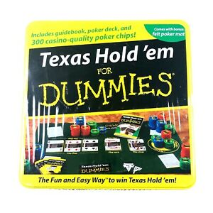 Fundex Texas Hold'em For Dummies Poker Card Game Tin Box Guidebook Included NEW