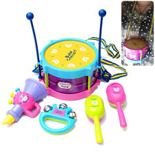 5pcs Practical Baby Kids Roll Drum Musical Instrument Band Kit Children Toy Gift