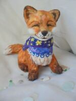 Felted fox - art toy, soft sculpture, collectible toy