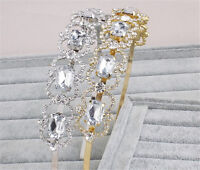 Crystal Alice band Diamante Wedding Headpiece Rhinestone Bridal Gown Accessories