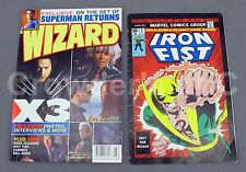 Wizard the Comics Magazine Iss 176 X3 Superman Returns & Iron Fist Comic Cover 1