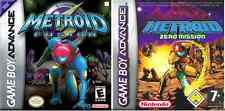HOT 2X RARE Metroid Fusion Zero Mission Kids GBA Gameboy Advance Game Fun SP DS