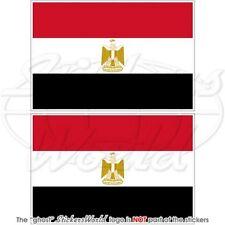"ÄGYPTEN Flagge ÄGYPTISCHE Fahne EGYPT Auto Aufkleber, Vinyl Sticker 75mm (3"") x2"