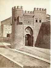 Espagne, Toledo, puerta del sol Vintage albumen print Tirage albuminé  15x20
