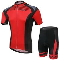 Clothing Team Jersey (Bib) Pants Set Bike Sports Cycling Jersey Suit Mens Red