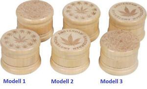 Grinder Wood Light 3teilig/3 Models/Inside Metal/Strainer / Ø 55mm / High 45mm
