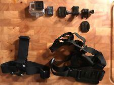 Bundle - GoPro HERO3+ Black - Head + Chest Mounts Included! - Accessory Bundle