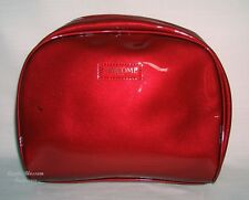 LANCOME BRIGHT CHERRY RED FAUX PATENT COSMETIC MAKEUP TRAVEL BAG CASE POUCH~NEW