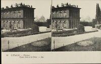 Italia Florence Palacio Pitti Y Dôme, Estéreo Tarjeta Postal Héliotypie Ca 1920
