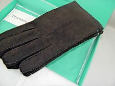 TIFFANY&CO SUEDE   LEATHER BROWN   GLOVES SZ 9 BRAND NEW IN A BOX