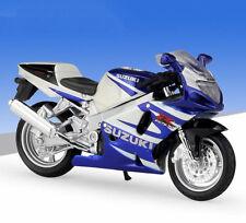 1:18 Maisto SUZUKI GSX R750 Motorcycle Bike Model Toy Blue White New