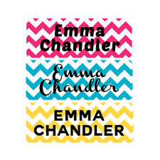 Waterproof Name Labels, Baby Bottle, Daycare, School, Pink, Teal, Chevron, Girl
