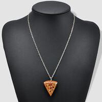 7pcs Slice Pizza Charm Pendant Chain Necklace Best Friends Friendship Fashion