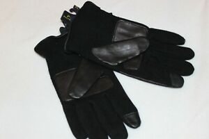 Polo Ralph Lauren Black Wool Touch Genuine Leather Gloves Size M,L,XL,XXL $68