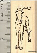 Santa Greyhound dog rubber stamp H11115 WM Christmas