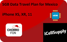 eSIM MEXICO Travel Plan For iPhone Xs Xr 11 *Digital Delivery* 5GB DATA PLAN
