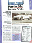 Porsche 924 1976 GERMANY DEUTSCHLAND ALLEMAGNE Car Auto FICHE FRANCE