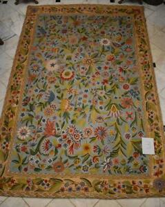 ESTATE RUG COLLECTION #3:  PERSIAN KASHMIR RUG CHAIN STITCH FROM GREECE 71 x 108